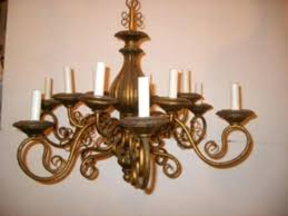 wood candle chandelier parrotuncle antique wooden with white finish grey golden and metal carved column twelve