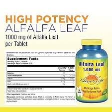 amazon nature s life alfalfa leaf tablets 1000 mg 500 count health personal care