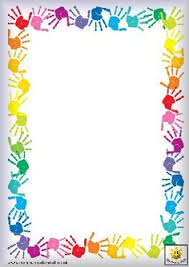 Small Picture Rainbow colored page border featuring abstract top and bottom