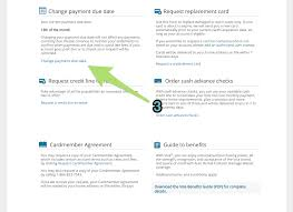 changing the due date of barclays credit cards step 2