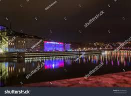 Skyline Festival Of Lights Discount Lyon France December 6 2014 Street Stock Photo Edit Now