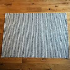 blue stripe rug natural striped and white cotton rugs dhurrie wide pretty
