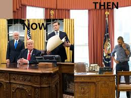 obama oval office. Gone From The Oval Office Is Truly Horrendous Two-tone Yellow Striped Wallpaper Of Obama Years Resembling A Whorehouse Set Black Exploitation