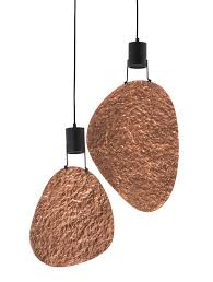 kenneth cobonpue lighting. Filipino Designer Kenneth Cobonpue Created The Shireen Hanging Lamp Using Powder-coated Steel And Hand-hammered Copper, Which Exudes A Warm Coral Hue When Lighting