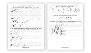 Calligraphy Flourishing for Beginners + Free Worksheet | The ...