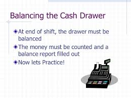 Balance Cash Drawer 4 03 Solve Related Mathematical Problems Opening Cash Fund The