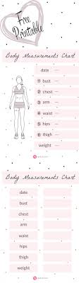 Body Measurement Chart Body Measurement Chart Fitness