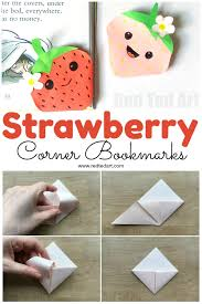 strawberry corner bookmark