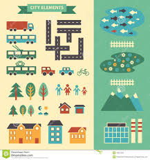 How To Design Your Own Map Town Infographic Elements Vector City Elements For Create