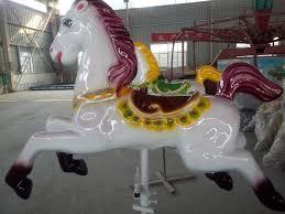beston white deluxe carousel horse for