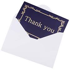 Thank You Note Size Amazon Com 24 Thank You Cards Bulk 4x6 Photo Size Navy Blue