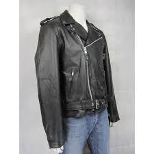 mens leather black biker rock padded jacket
