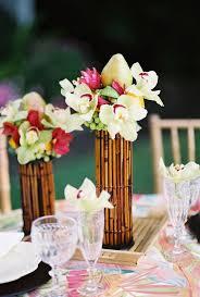 tropical centerpieces for flower arrangements King Protea + Orchids +  Succulents / Centerpiece