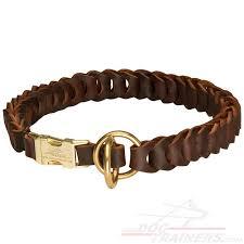 leather choke collar for dog behavior correction