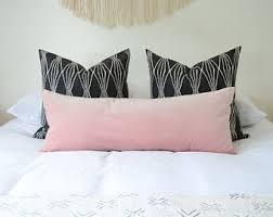 long lumbar pillow.  Lumbar Blush Long Lumbar Pillow Cover  Velvet Cushion  Cover Pink Throughout Long Lumbar Pillow M