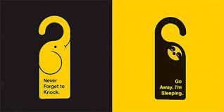 creative door hangers. Creative #Doorhangers Door Hangers Pinterest