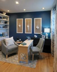 blue home office. Blue Minimalist Home Office E