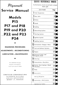 1946 1953 plymouth repair shop manual original covers all plymouth model p 15 deluxe special deluxe p 17 deluxe p18 deluxe special deluxe p 19 deluxe p20 deluxe special deluxe p22 concord
