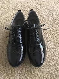 nib cole haan women s zerogrand patent leather wingtip oxfords black size 8 5