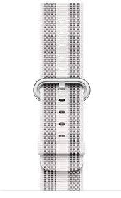 ≡ <b>Ремешок Apple</b> Watch 38mm White Stripe Woven <b>Nylon</b> ...