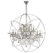 chandelier inspiring sphere with crystals inside orb prepare 12