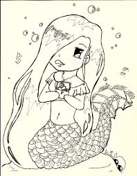 Cute Baby Mermaid Coloring Pages