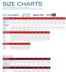 Hanes Boys T Shirt Size Chart Port Authority Size Chart True To Size Apparel