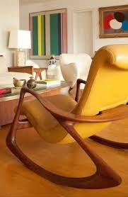 modern wooden rocking chair. yellow leather chair i love the rocking style of modern wooden