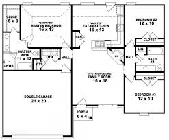 house floor plans 3 bedroom 2 bath. Perfect Floor 653788  Onestory 3 Bedroom 2 Bath French Traditional Style House Plan  House  Plans Floor Home Plan It At HousePlanItcom Throughout Plans Bedroom Bath