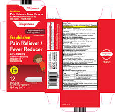 Pain Reliever Fever Reducer Childrens Suppository Walgreen