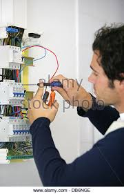 fuse box fuse stock photos fuse box fuse stock images alamy man repairing faulty fuse box stock image