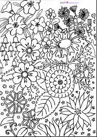 Excellent Hard Flower Coloring Pages With Challenging Coloring