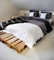 Wooden pallet beds frame.