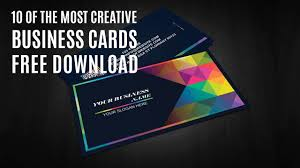 10 Free Business Cards 10 Of The Most Creative Business Cards Download Free