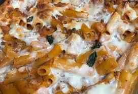 cream cheese and sausage pasta bake