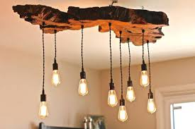 rustic reclaimed wood chandelier olive live edge light fixture on chande