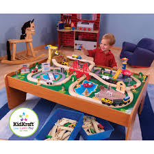 Train Set Table With Drawers Sturdy Large Activity Table For Children With Storage Drawer