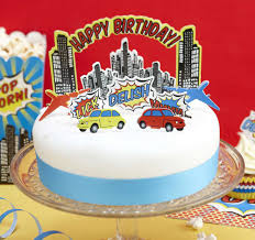 Bright Superhero Birthday Party Cake Toppers Australias 1