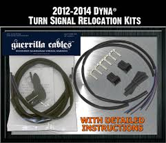 harley turn signal wiring harness harley image turn signal relocation kits by guerrilla cables on harley turn signal wiring harness