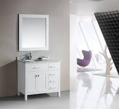 Bathroom Single Vanity Adorna 36 Single Bathroom Vanity White Finish