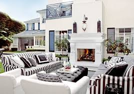 black and white outdoor furniture. decoratorsbest masculine black and white stripe outdoor cushions furniture