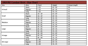 46 Curious Drifire Size Chart