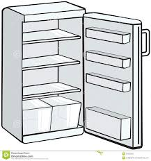 cupboard clipart black and white. open empty refrigerator clipart cupboard black and white
