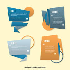 Origami Quote Template Set Vector | Free Download