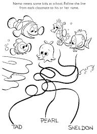 Kleurplaat Finding Nemo 8854 Kleurplaten