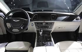 hyundai genesis interior. hyundai targets german competitors with allnew 2015 genesis sedan interior