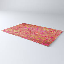 hot pink and gold baroque fl pattern rug