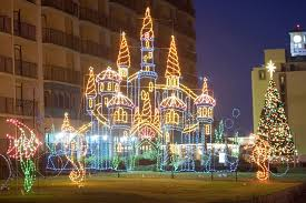 Holiday Lights At The Beach Virginia Beach Mcdonalds Holiday Lights At The Beach At The Oceanfront In