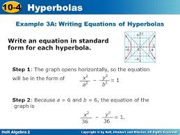 8 example 3a writing equations of hyperbolas
