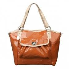 Coach Bleecker Riley Carryall Small Orange Satchels ECJ